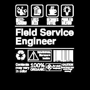 Field Service Engineer Produktetikett Lustiges Geschenk