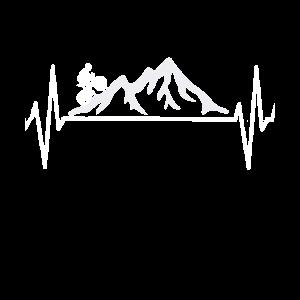 Radfahrer Mountainbike EKG Berge Geschenk