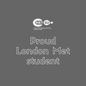 Proud London Met student