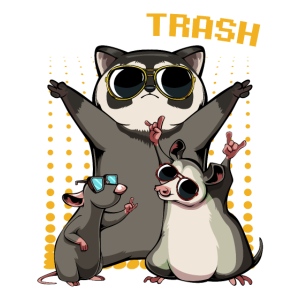 Team Trash Funny Opossum Raccoon Rat Garbage Gang