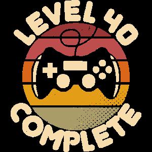 40. Geburtstag Level 40 Complete 40 Jahre Geschenk