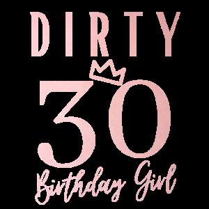 30. Geburtstag Frauen Frau Mädchen