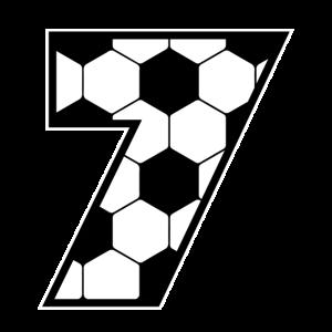 Fußballliebhaber Spieler Siebtes Geschenk zum 7.