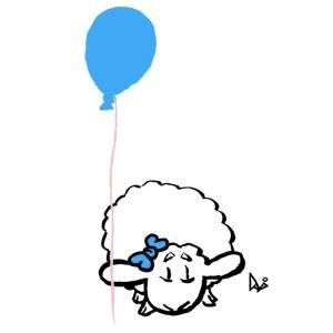 Babylam med ballong (blå)