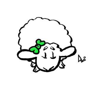 Baby Lamm (grön)