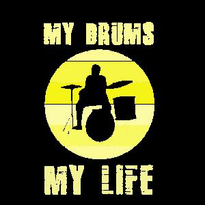 Schlagzeug Retro Spruch