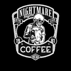 Albtraum vor dem Kaffee Halloween-Kaffeeliebhaber
