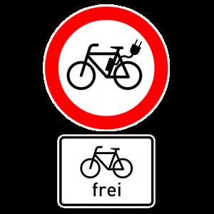 Für E-Bikes gesperrt – Fahrräder frei