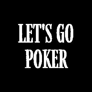 Poker T-Shirt Lass uns Weihnachtspoker spielen