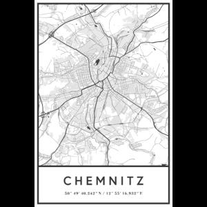 Chemnitz Sachsen Karte Stadtplan Citymap Landkarte