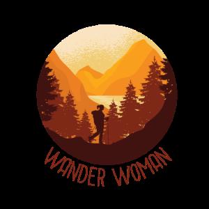 Wander Woman Wandern Frauen Geschenk