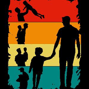 retro Papa Vater Sohn Herren Vatertag Geschenk
