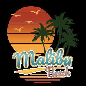Retro Malibu Beach, Los Angeles, Sonnenuntergang