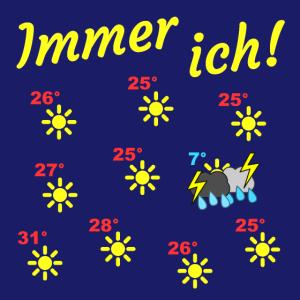 Immer ich! Wetterkarte - hgr1