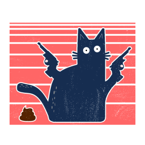 Pew Pew Madafakas Katze Funny Crazy Cat