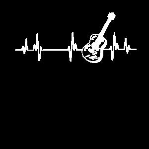 Gitarre Herzschlag Puls EKG Herzlinie