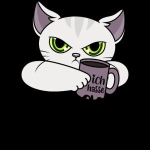 Katze Morgenmenschen Morgen Menschen Kaffee Spruch