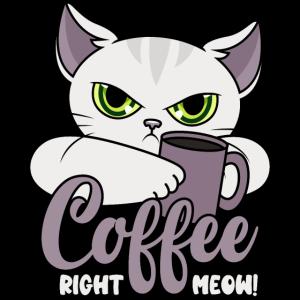 Kaffee Lustige Katze Kaffeetasse Coffee Right Meow