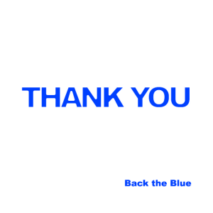 Vielen Dank, dass die Polizei das Blau unterstützt