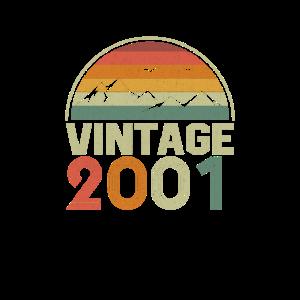Vintage 2001 Classic Geburtstags Geschenkidee