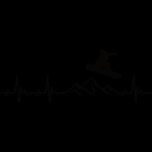 Snowboarding Herzschlag Geschenk für Snowboarder