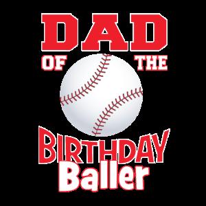 Vater der Geburtstagsballer-Baseball-Themenparty