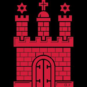 Hamburg Wappen (Freie Hansestadt / Tor Zur Welt)