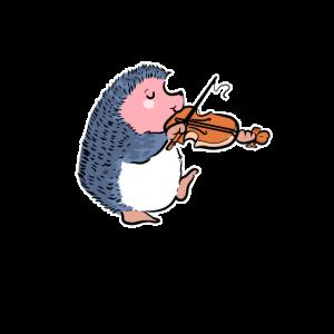 Hedgehog Violine Violin Player Geschenk