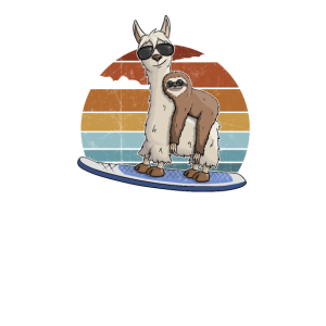 Surf Lama Faultier Stehpaddeln Stand Up Paddle SUP