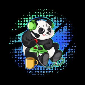 Panda Gaming Controller Gamer PC Geschenkidee