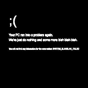 Programmierer Bluescreen Error Debug Computer