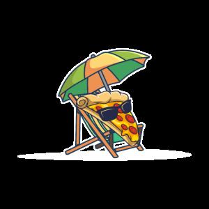 Pizza Sonnenbrille relaxen Pizzastück Geschenk