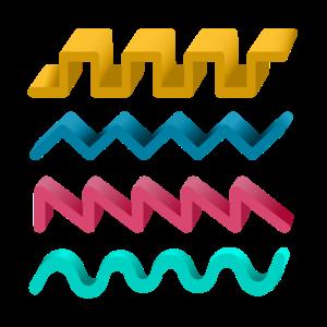 Synthesizer-Wellenformen