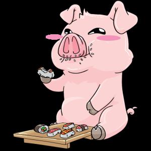 Schwein Sushi Schweine