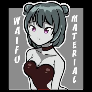Waifu Material Lewd Anime Shirt Waifu