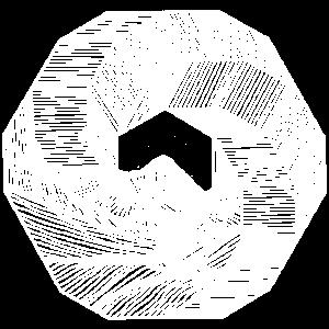 Berge Kreis Geometrie Linien Illustration Fine Art