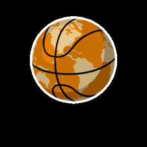Basketball Weltkugel Erdball Erde Geschenk