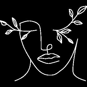 One Line Minimalistische Frau Pflanze Geschenk