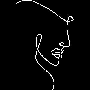 One Line Gesicht Zeichnung Tattoo Geschenk