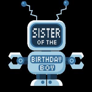 Schwester des Geburtstagskind-Roboterliebhabers Bday Party