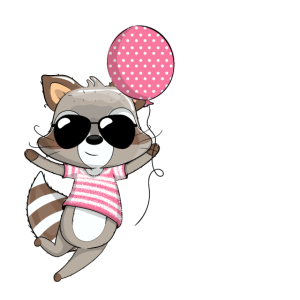 2. Geburtstag Mädchen Süßer Waschbär