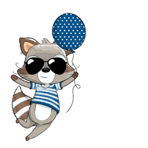 3. Geburtstag Jungen Süßer Waschbär