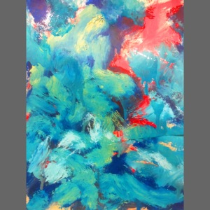 Abstract Art blue/red