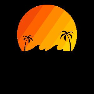 Sonnenuntergang am Meer Vintage