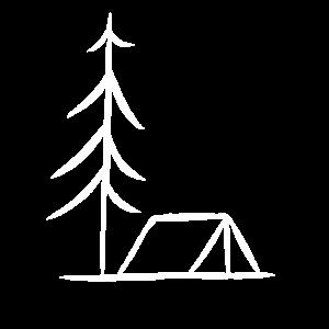 Zelt Zelten Tanne Nadelbaum Wald Zeltler Geschenk