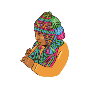 peruanischer Musiker