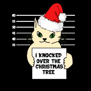 Lustige Weihnachtskatze Katze Weihnachten Spruch