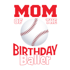 Mutter der Geburtstagsballer-Baseball-Themenparty