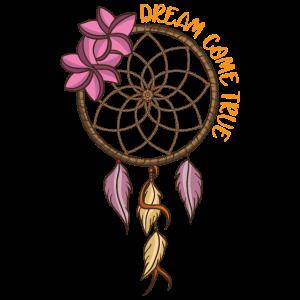 Yoga Traumfänger mit Federn für Indianer & Hippie