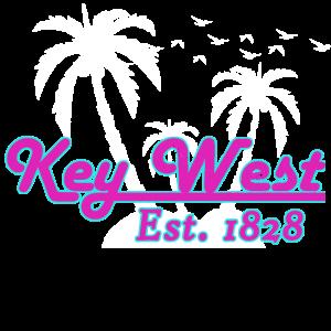 Key West Florida Miami Retro Neon Vintage Ripped